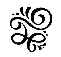 Elegant vintage divider, swirl, or corner flourish