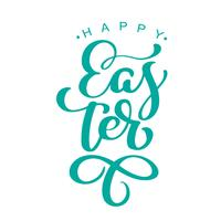 """Happy Easter"" Hand drawn calligraphy and brush pen lettering"