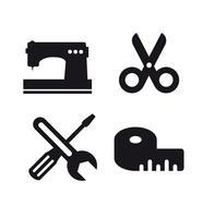 Idea di business logo artigianale. Strumento di design