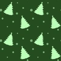 A seamless green template for christmas with pine trees