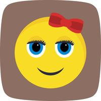 Emoji Girl Vector Icon