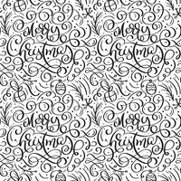Seamless pattern for Christmas on a white background with flourish vector xmas elements of calligraphy. Beautiful pattern for a luxurious gift wrapping paper, t-shirts, greeting cards