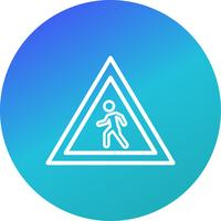 Vector Pedestrian crossing Icon