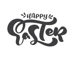 Calligraphic Happy Easter text