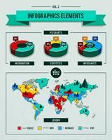 Ensemble de vecteur d'éléments infographiques