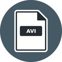 AVI Vector Icon