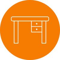 Study Table Vector Icon