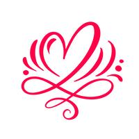 Heart love sign Vector illustration