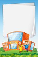 Papierschablone mit moslemischen Kindern in der Schule