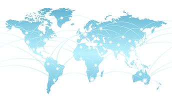 Seamless map of the global network system.