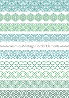 Damask vintage seamless pattern set.