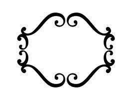 Bloeien Vintage vector frame