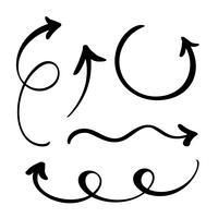 Conjunto de flechas de vector abstracto
