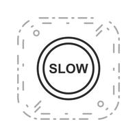 Vector Slow-pictogram