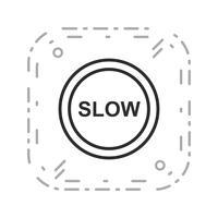 Icône lente de vecteur