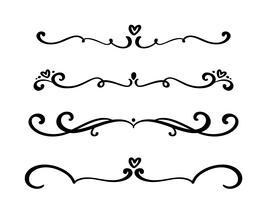 Vektor vintage linje eleganta dividers och separatorer