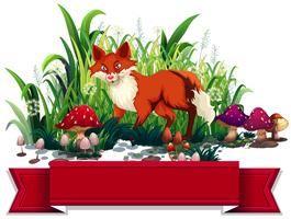 Banner design with red fox