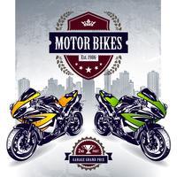 Conception d'affiche de motard de sport