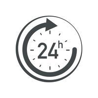 Icono de 24h. vector