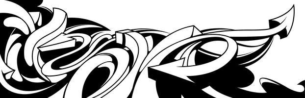 Sfondo di graffiti in bianco e nero