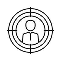 Target Marketing SEO Line Icon