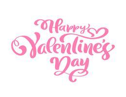 Frase caligrafía feliz día de san valentín