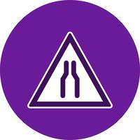 Icono de vector calzada estrecha