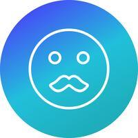 Mustasch Emoji Vector Icon
