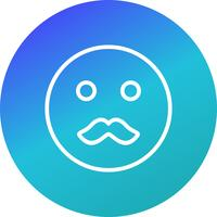 Moustache Emoji Vector Icon