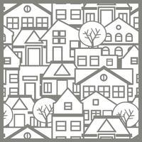 Stad patroon silhouet