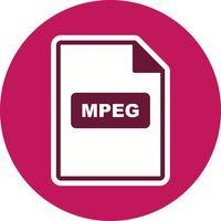 Icona vettoriale MPEG