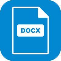 Icona di vettore di DOCX