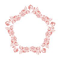 Hand Drawn Floral Autumn Design Elements wreath isolated on white background for retro design flourish. Vector calligraphy and lettering illustration scroll