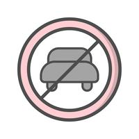 Vector No entry for motor vehicle Icon