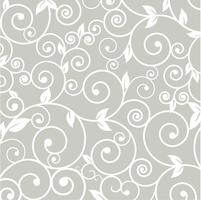 Pattern silhouette cut tracery flower natural curls