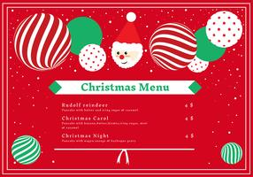 christmas dinner menu card vector