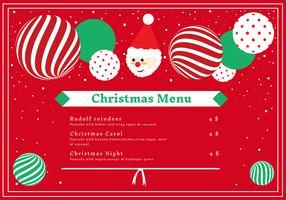 cartão de menu de jantar de natal