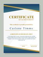 Beautiful Certificate Template Vector