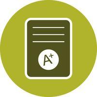 A+ Grade Vector Icon