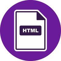Icône de vecteur HTML