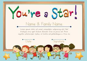 Certificate template for star