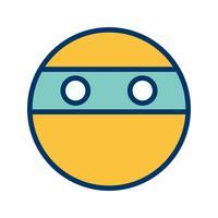 icône de vecteur emoji ninja