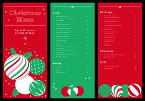 christmas dinner menu card