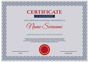 Vector de plantilla de certificado