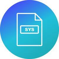 Ícone de vetor SYS
