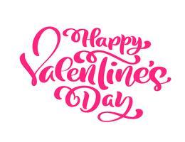 Caligrafía rosa frase feliz día de la mujer. Vector dibujado a mano letras. Ilustración de mujer aislada. Para vacaciones bosquejo doodle tarjeta de diseño