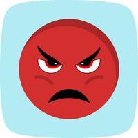 Icona di vettore Emoji arrabbiato