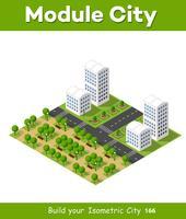 Concetto di città isometrica delle imprese di infrastrutture urbane