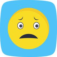 Nervöse Emoji-Vektor-Ikone