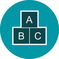 ABC-Würfel-Vektor-Symbol